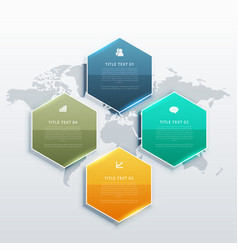 modern four steps infographic design banners for vector image