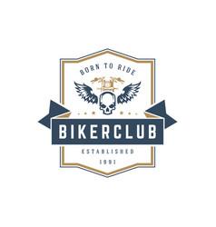 Motorcycle club logo template design vector