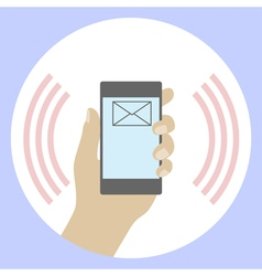 SMS on a mobile phone vector image