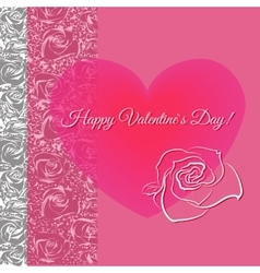 Romantic concept with floral heart vector image vector image