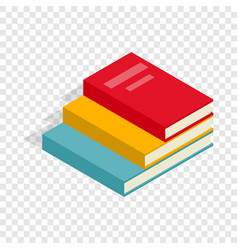 stack of books isometric icon vector image