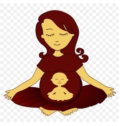 meditating mother - vector image vector image