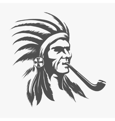 Native american indian face vector image vector image