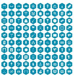 100 events icons sapphirine violet vector image