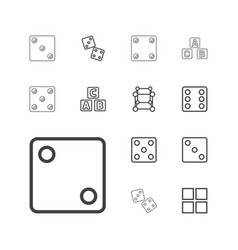 13 cube icons vector