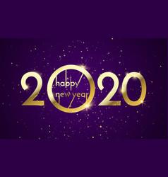 2020 happy new year glitter gold golden vector
