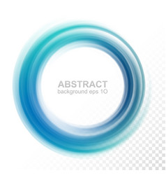Abstract transparent blue swirl circle vector