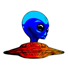 alien ufo invasion design art vector image
