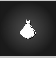amphora icon flat vector image