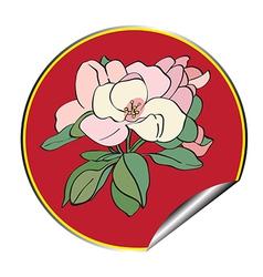 apple flower sticker vector image