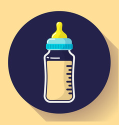 Baby milk bottle icon baby bottle flat vector