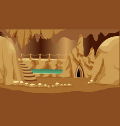 Background for cartoon or fantasy game asset vector