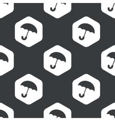 Black hexagon umbrella pattern vector