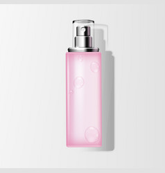 blank spray bottle with liquid vector image