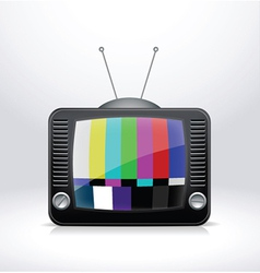 Broken tv signal vector
