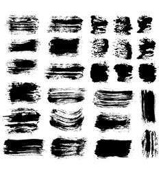 Brush strokes set 6 vector