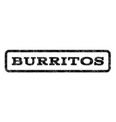 Burritos watermark stamp vector