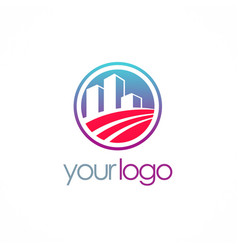 Business building company logo vector