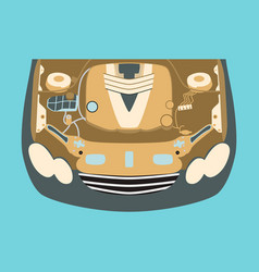 Car motor vector
