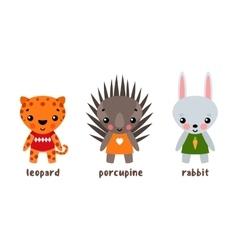 Cartoon zoo animals vector
