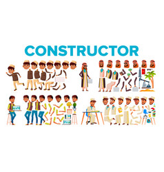 character male constructor body detail set vector image