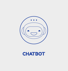 chatbot icon concept trendy linear design vector image