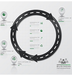Circle arrow road and street business infographic vector