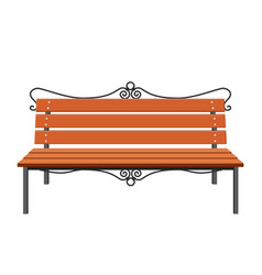 City park bench vector
