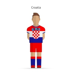 Croatia football player soccer uniform vector