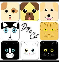 Cute Animal Face vector
