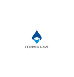 droplet unusual water company logo vector image