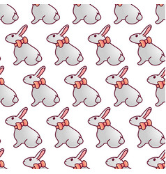 easter bunnies seamless pattern13 vector image