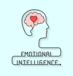 Emotional intelligence concept vector