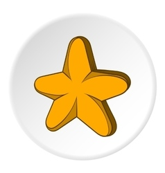 Five pointed star icon cartoon style vector