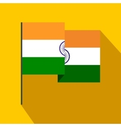 Flag of India icon flat style vector image