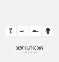 flat icon clothes set of sneakers uniform male vector image