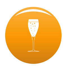 Full glass icon orange vector