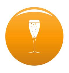 full glass icon orange vector image