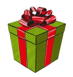 gift box birthday holiday symbol christmas hand vector image