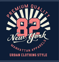 graphic premium quality new york vector image