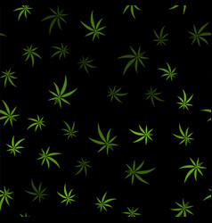 Green cannabis leaves seamless background vector