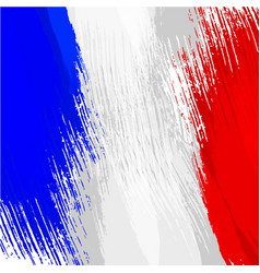 Grunge background in colors of french flag vector