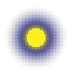 Halftone half-tone element dots circles speckles vector