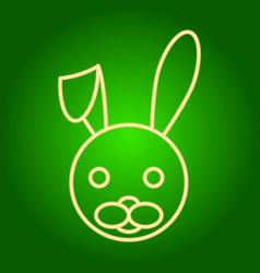 Head of the easter bunny with lowered ear vector