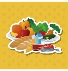 healthy food design food vector image