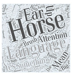 Horse language word cloud concept vector
