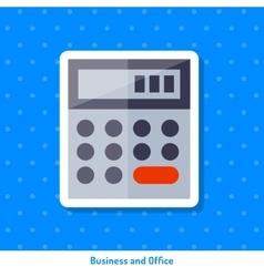 Icon of calculator vector