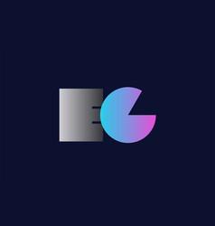 Initial alphabet letter ec e c logo company icon vector