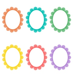 Lace frames isolated on white vector image