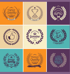 Laurel wreath templates vector